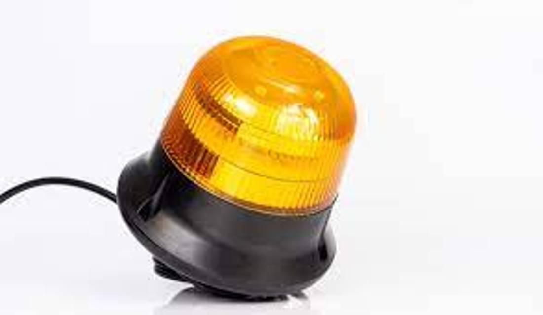 Varsellys LED med sentral bolt,dobbelt blitz