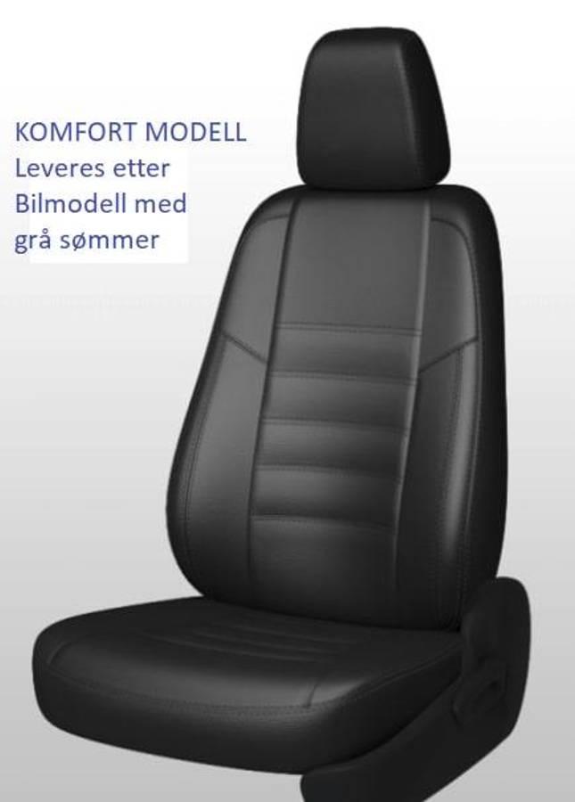 Opel Combo Elite 2019-> Setetrekk i Skinn. 1+2