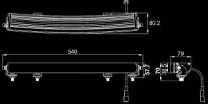 Bilde av Delling E45 Buet 54 cm LED Bar Black Edition